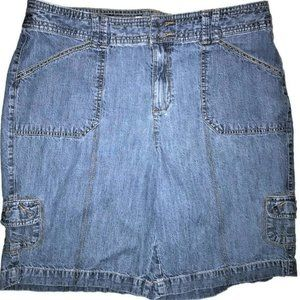 Christopher & Banks Jean Shorts with Gold Thread